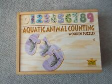 Aquatic Animal Counting Wooden Puzzles