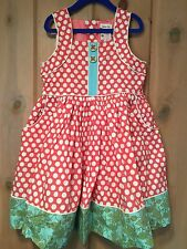 NWT Matilda Jane Party Season Dress Girls Sz 6 Secret Fields Tween Polka Dots