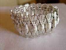 "SARAH COVENTRY ""Simply Elegant""  Collection Vintage Pineapple Silver Tone Bracel"