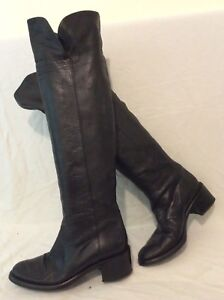 Hobbs Black Over The Knee Leather Boots Size 36