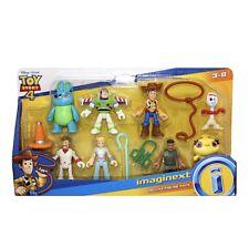 Toy Story 4 Imaginext Deluxe 8 Figure Pack Disney Pixar Woody Bo Peep Forky Duke
