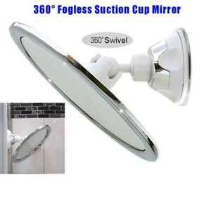 360° Anti-Fog Fog Free Shower Mirror Fogless Shaving Shave Bathroom Suction Cup/