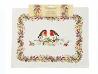 Cooksmart Winter Chorus Placemats Pack of 2 With Robins