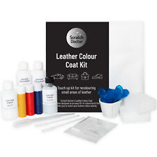Black Leather Colour Coat Kit Recolour and Repair Small Areas on Sofas Car Seats