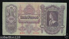 Hungary Banknote 100 Pengo 1930 Circulated