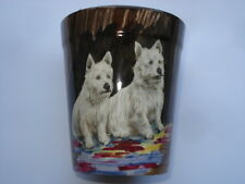 C1920s VINTAGE H&K Tunstall Cina becher con dipinto a mano PIC di a zip cani Scottie