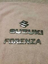 SUZUKI S EMBLEMS LOT REAR TRUNK BADGE FORENZA 04-07 CHROME COLOR 05 06
