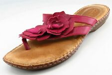 Clarks artisan Flip Flop Pink Leather Women Sandal Shoes Sz 9.5 M