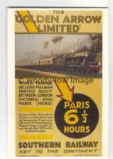 "ap2957 - Southern Railway - ""The Golden Arrow Limited""  to Paris - Postcard"