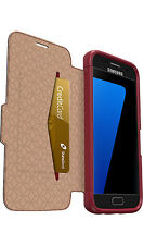 OTTERBOX Samsung Galaxy S7 Strada Leather Folio Case - Ruby Romance Red