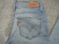 WOMENS LEVI 524 SIZE 7 TOO SUPERLOW SKINNY STRETCH JEANS / REF A18 622