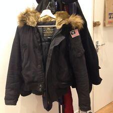 Women's Alpha Industries Black Bomber Jacket XS Used