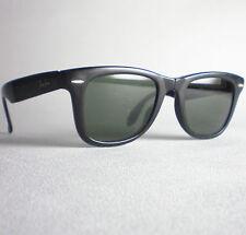 Vintage Ray Ban B&L USA FOLDING WAYFARER I Sunglasses black G-15 lens scratches