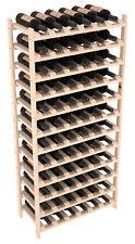 72 Bottle Stacking Wood Wine Rack in Ponderosa Pine. Easy DIY Wine Shelf.