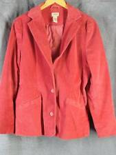LL Bean 14 Reg Rust Long Sleeve Corduroy Blazer Jacket