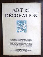 Art et Decoration 1926 Deco Artistes Independants Verrerie d'Orrefors Mobilier