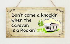 """Fait main plaque effet vieilli SIGNE """"caravane est un rockin' ' Cadeau"""
