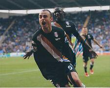 Dimitar BERBATOV Signed 10x8 Photo AFTAL COA Autograph Fulham AS Monaco RARE