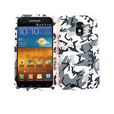 For Samsung Galaxy S 2 S2 Sprint Phone Hard Cover Case Pink Gray Camo Faceplate