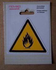 #) pictogramme adhésif signalisation danger : FEU