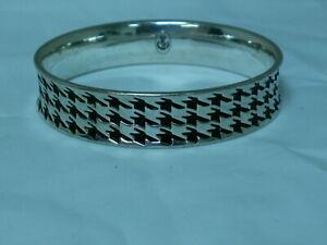 ...Premier Designs...Silver Tone,Black Enamel Bangle Bracelet...
