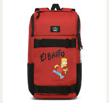 Vans X The Simpsons El Barto Obstacle Skate Backpack Red VN0A3I6917A