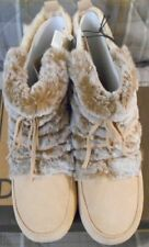 LUCKY BRAND - Awesome Ladies Boots - size 9 M - camel/light tan fur