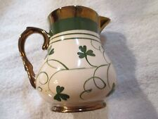 Vintage English Harvest Ware Wade Copper Luster Creamer Clover Shamrock Pattern