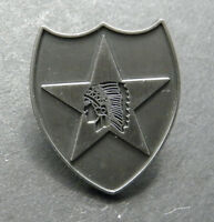 2ND INFANTRY DIVISION PEWTER LAPEL PIN BADGE 1 INCH UNITED STATES ARMY
