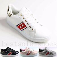 WOMENs LADIES LACE UP FLATS LOAFERS RUNNING TRAINERS PLIMSOLLS PUMPS SHOES SIZE