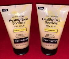 Neutrogena Healthy Skin Boosters Daily Scrub White Tea & Vitamin E 4.2Oz 2 PACK