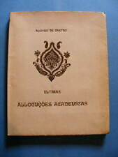 Brésil ALOYSIO DE CASTRO Ultimas Allocuçoes Academicas Tirage limité 1918 Envoi