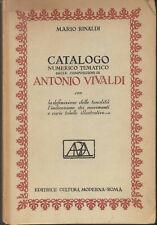 ANTONIO VIVALDI XVIII CENTURY BAROQUE MUSIC VENICE THEMATIC CATALOGUE