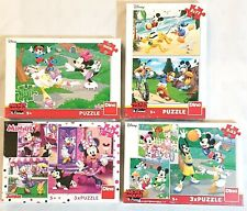 Disney Jigsaw Puzzle Bundle Mickey Minnie Mouse Xmas Toys For Girls Boys 5+ Year