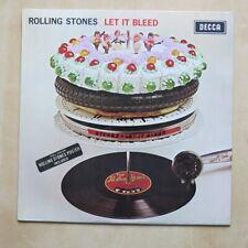 ROLLING STONES Let It Bleed UK orig mono vinyl LP with inner , sticker & poster
