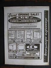 L G E Dandenong Washing Machine TV Fridge Television 1960s