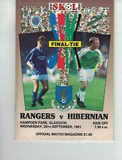 GLASGOW RANGERS v HIBERNIAN SKOL CUP SEMI FINAL 25th September 1991 @Hampden