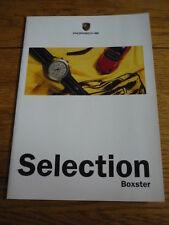 PORSCHE Boxster sélection voiture brochure JM