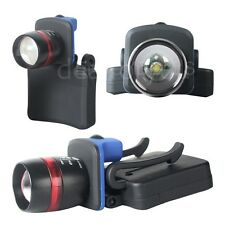 3Mode 5W 500-lumen LED Zoom Focusable HEADLAMP FLASHLIGHT Clip-On Head OK