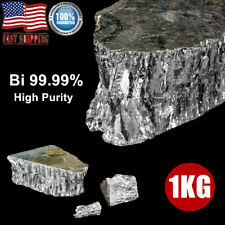 Bismuth Metal Ingot 99.99% Pure Crystals Geodes Fishing Lures Making 1000G New