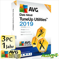 TuneUp Utilities 2020 3 PC 1J Vollversion AVG PC TuneUp NEU Tune Up UE 2019 DE
