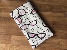Handmade Lulu Guinness Glasses Print Fabric Glasses Case Padded Zip Closure
