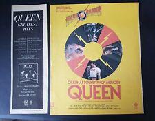 Queen Greatest Hits / Flash Gordon Original Vintage Print Ad 1981
