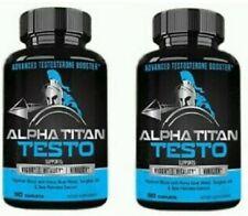 2X Alpha Titan Testo 60 caps, New & Sealed,Test Booster, Virility,Vigor,Vitality