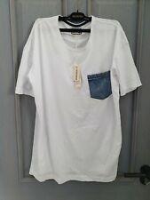Diesel mens white short sleeve 100% cotton tshirt size XL RRP £55