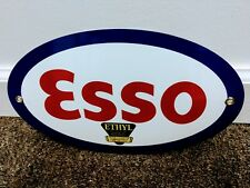 Esso Ethyl Gasoline gas oil sign.. FREE ship on 10 signs