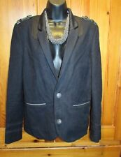 Ladies Military Style Black Jacket UK Small L'Art De River Island