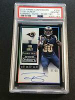 TODD GURLEY 2015 PANINI CONTENDERS #238 PLAYOFF TICKET AUTO /30 ROOKIE RC PSA 10