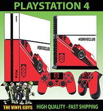 PS4 Piel DRIVECLUB CONCEPT Carreras Conducir Pegatina + MANDO pegatinas de pie