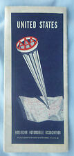 1957 United States road  map AAA  oil  gas